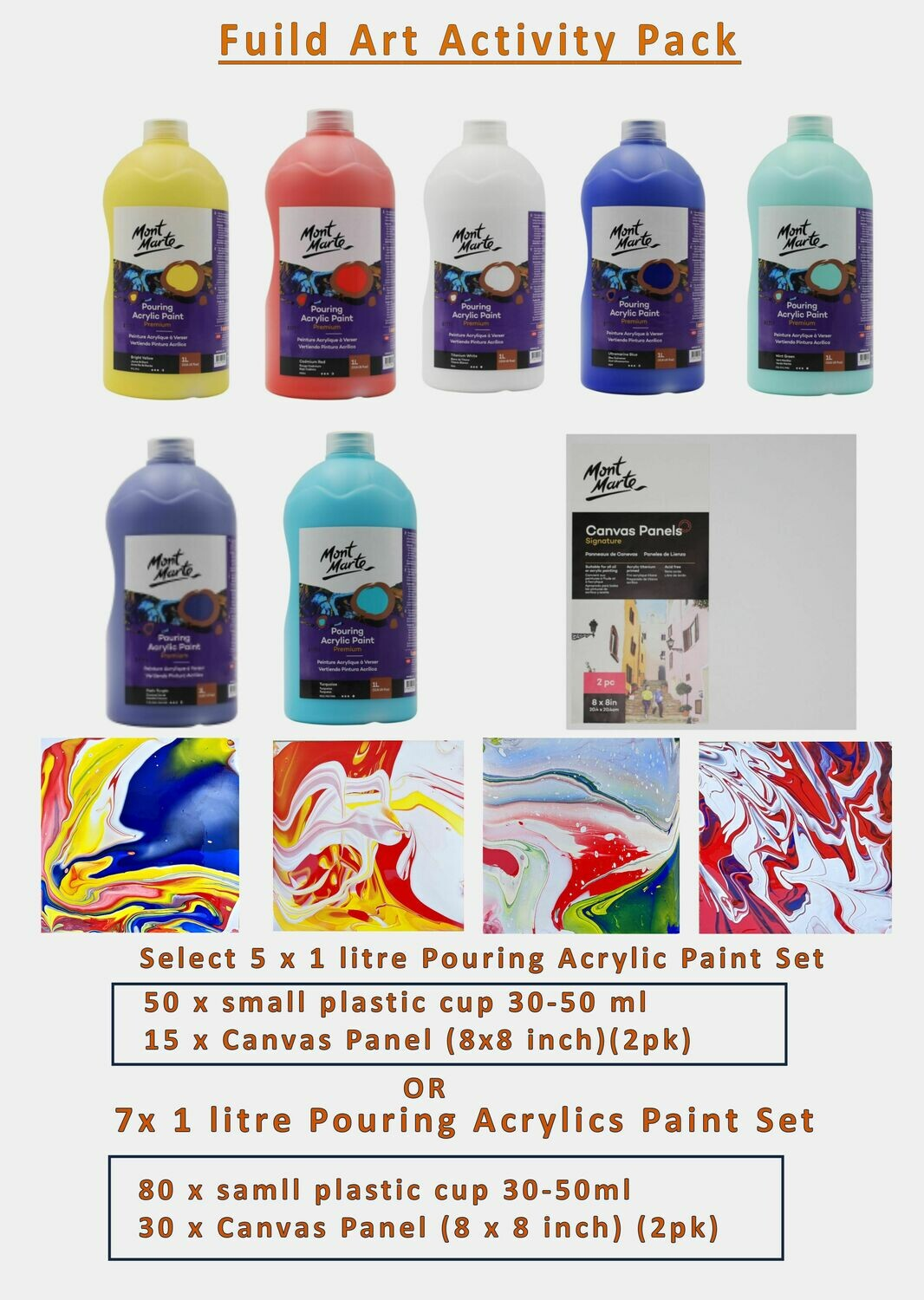 Fluid Art Activity Pack (5 Colours)
