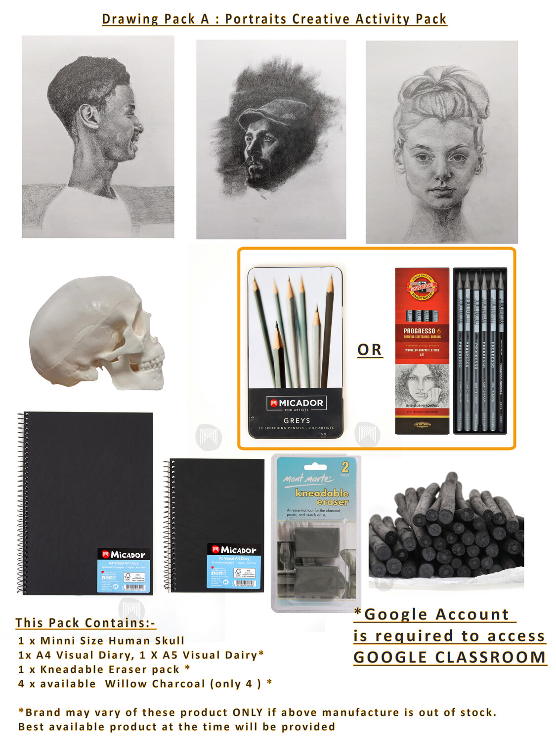 Drawing Pack A: Portraits Creative Activity pack