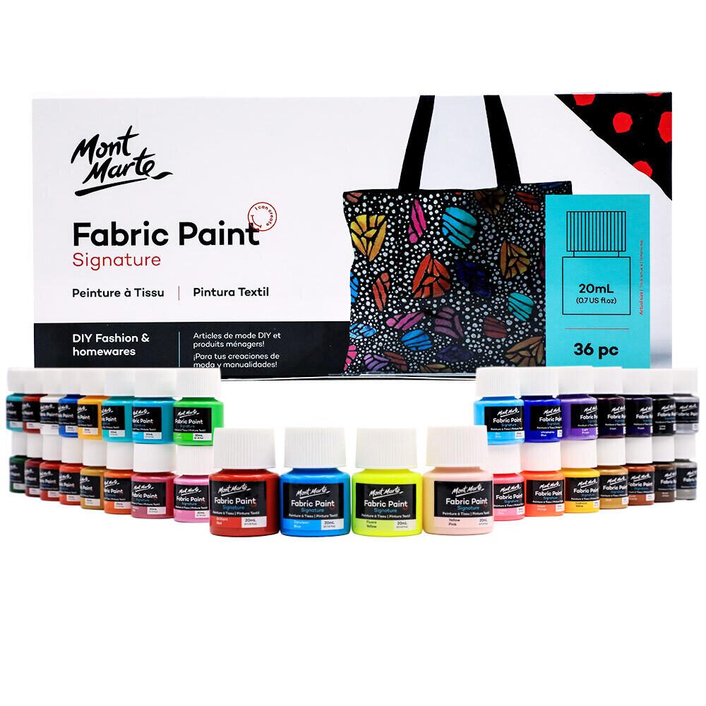 Mont Marte Signature Fabric Paint Set - 36pc x 20ml