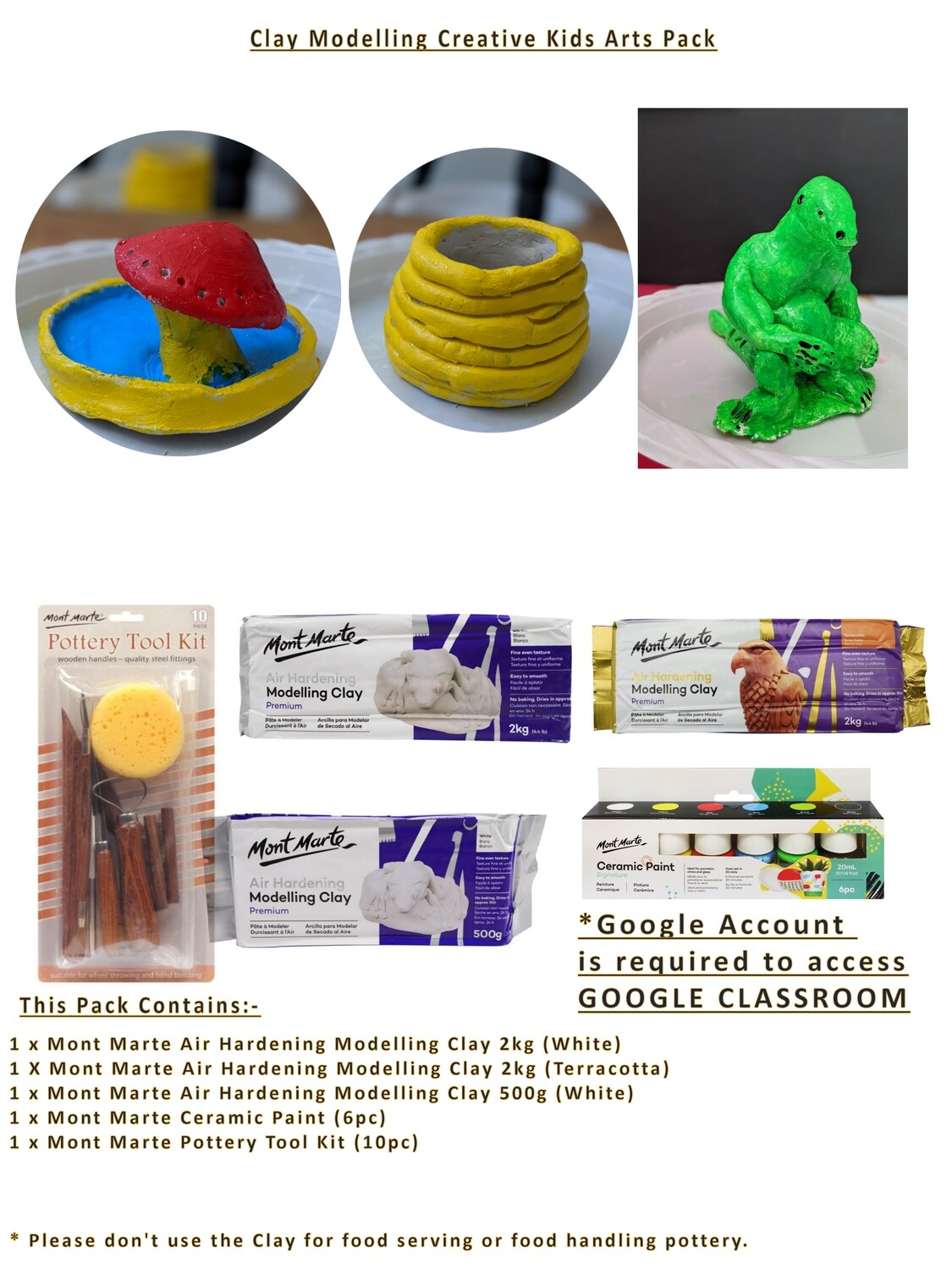 Clay Modelling Creative Kids Activity Pack (Coming Soon)