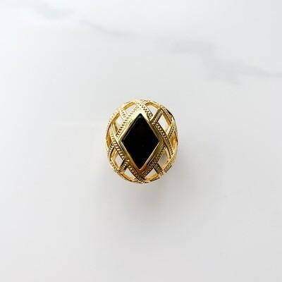 Onyx Louvre Diamond Ring