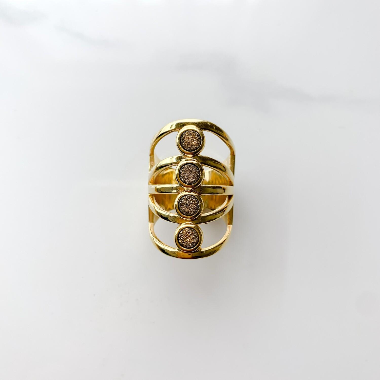 Gold Bird of Paradise Ring