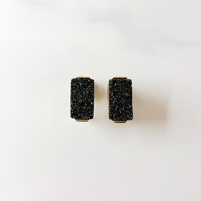 Midnight Bar Stud Earrings