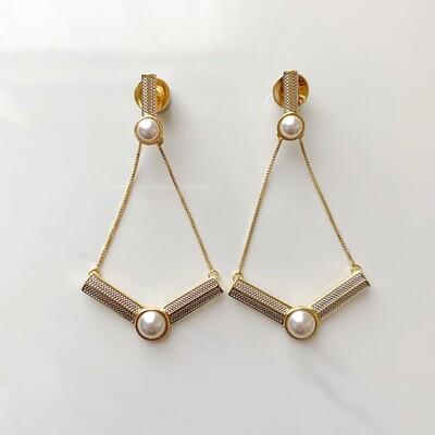 Pearl Drop Flight Earrings