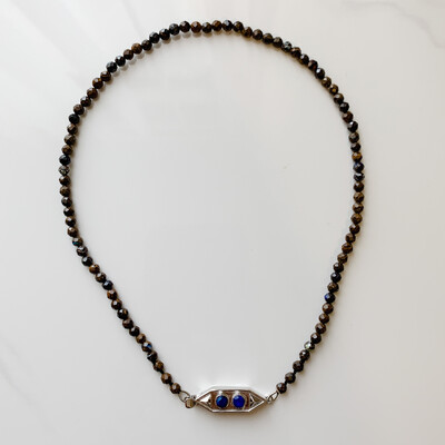 Ironstone with Blue Opal Necklace