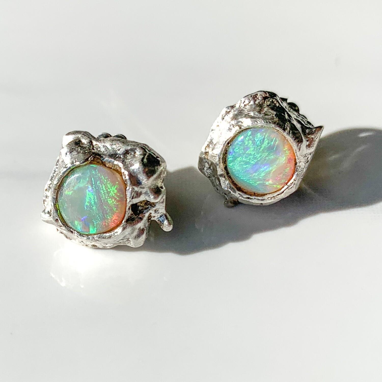 Twin Reefs Opal Stud Earrings
