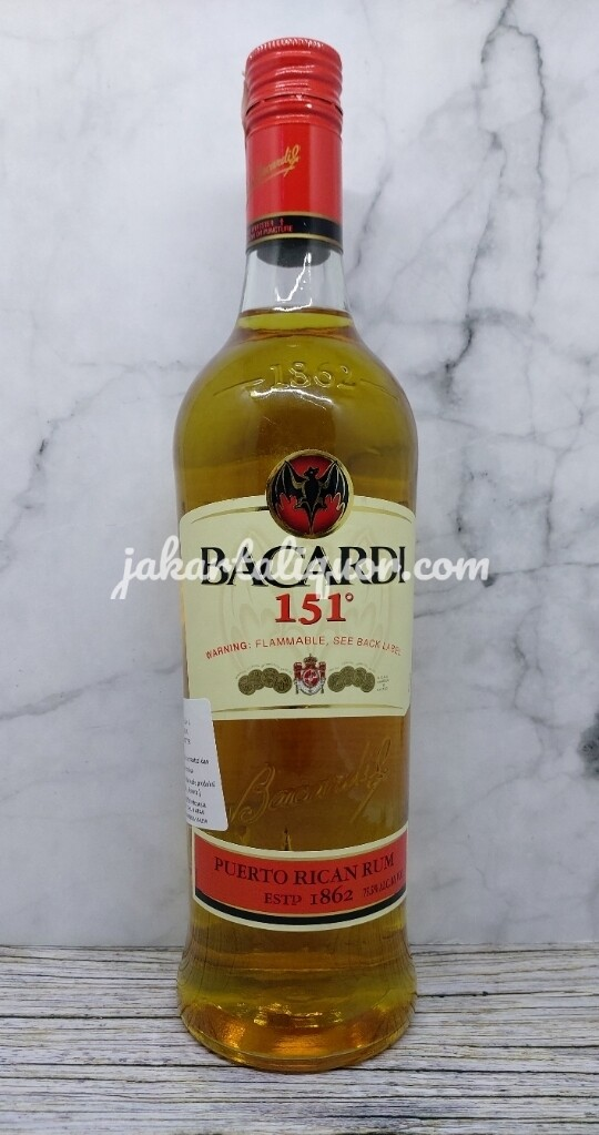 Bacardi 151 (Alcohol 75.5%) - 750ML