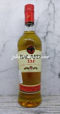 Bacardi 151 (Alcohol 75.5%) - 750ML