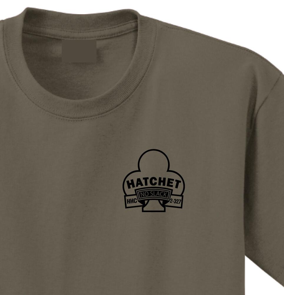"""2-327th HHC """"Hatchet"""" Shirt"""
