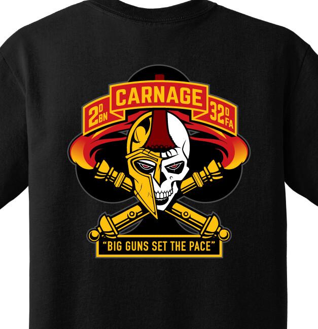 "2-32 FA C BTRY ""Carnage"" Shirt"
