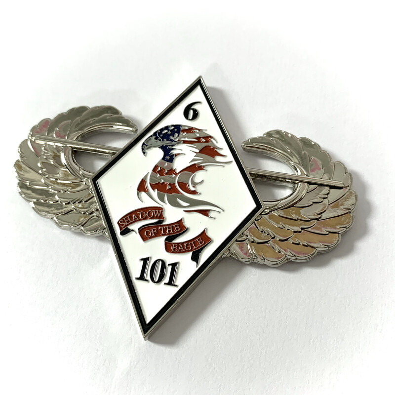 "6-101 Challenge Coin (3"" Wide Version)"