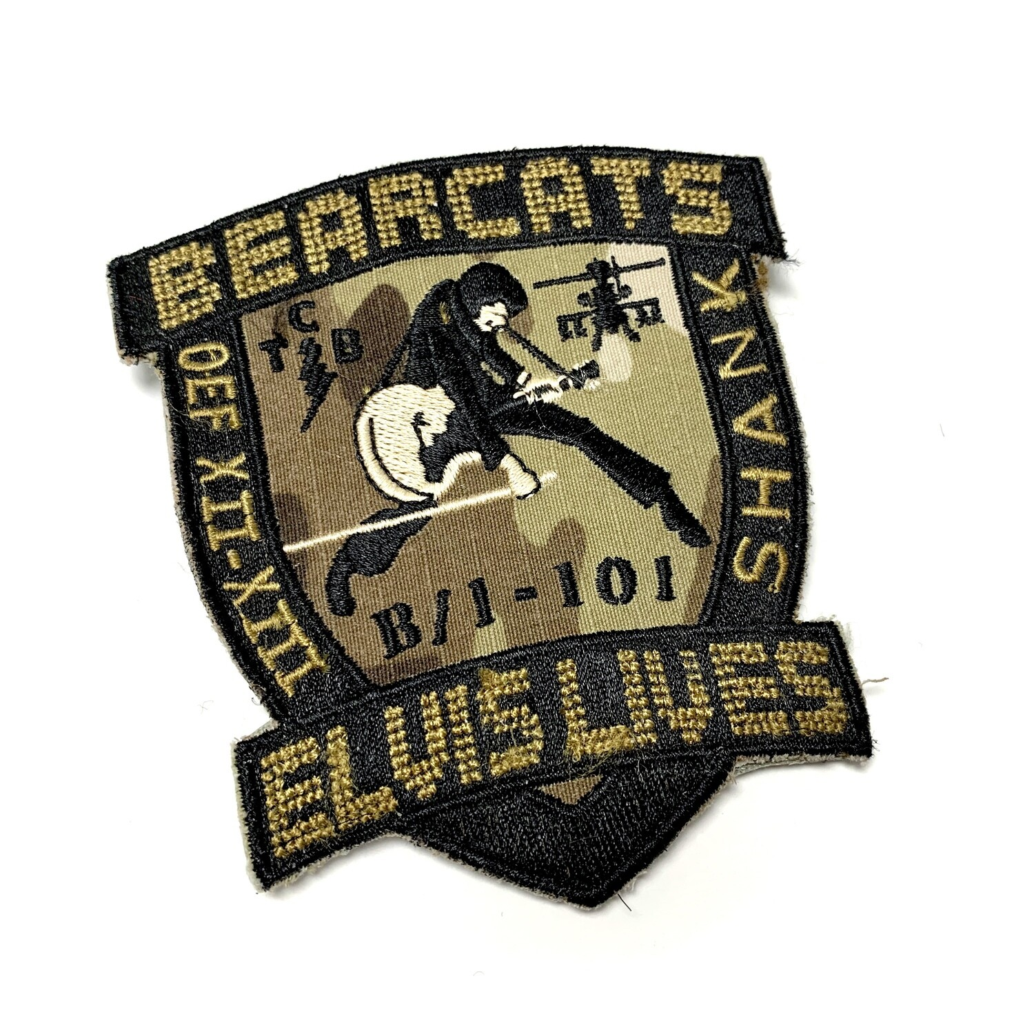 "B Co 1-101 ""Bearcats"" OEF XII-XIII Legacy Patch"