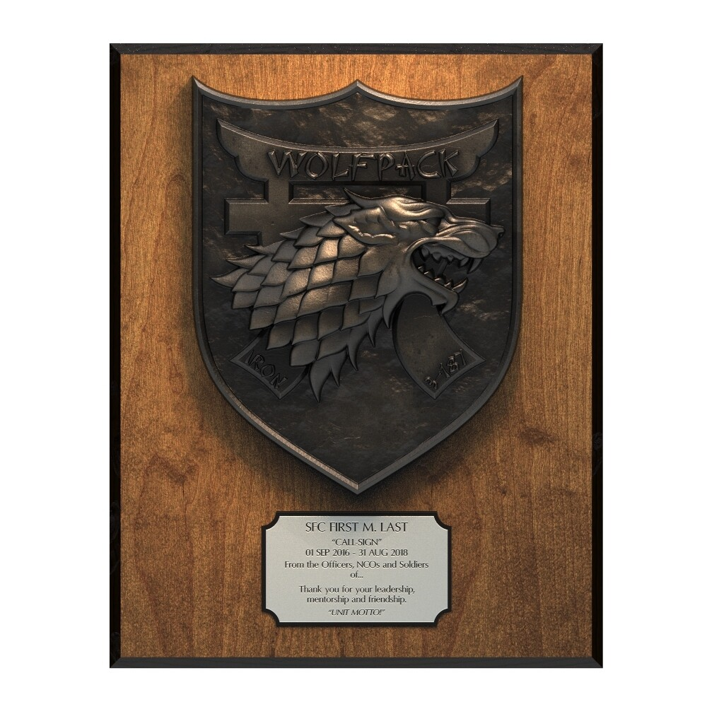 Wolfpack Plaque