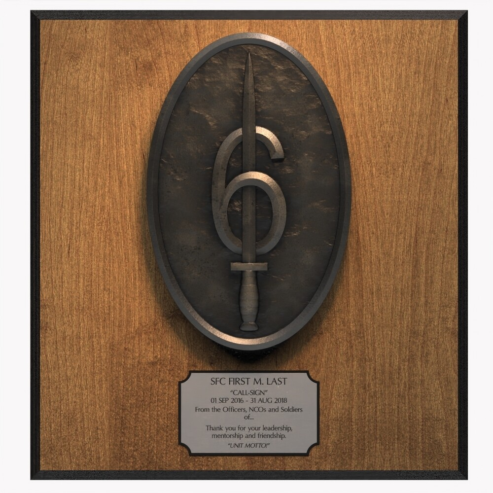 """6 Guns"" 160th SOAR(Abn) Plaque"