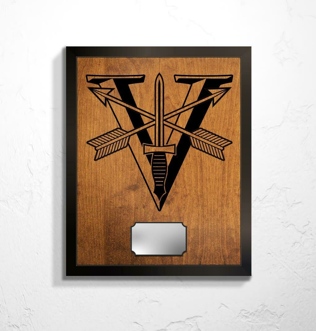 "5th SFG(A) - Special Forces Crest Plaque 20.5""x16.5"""
