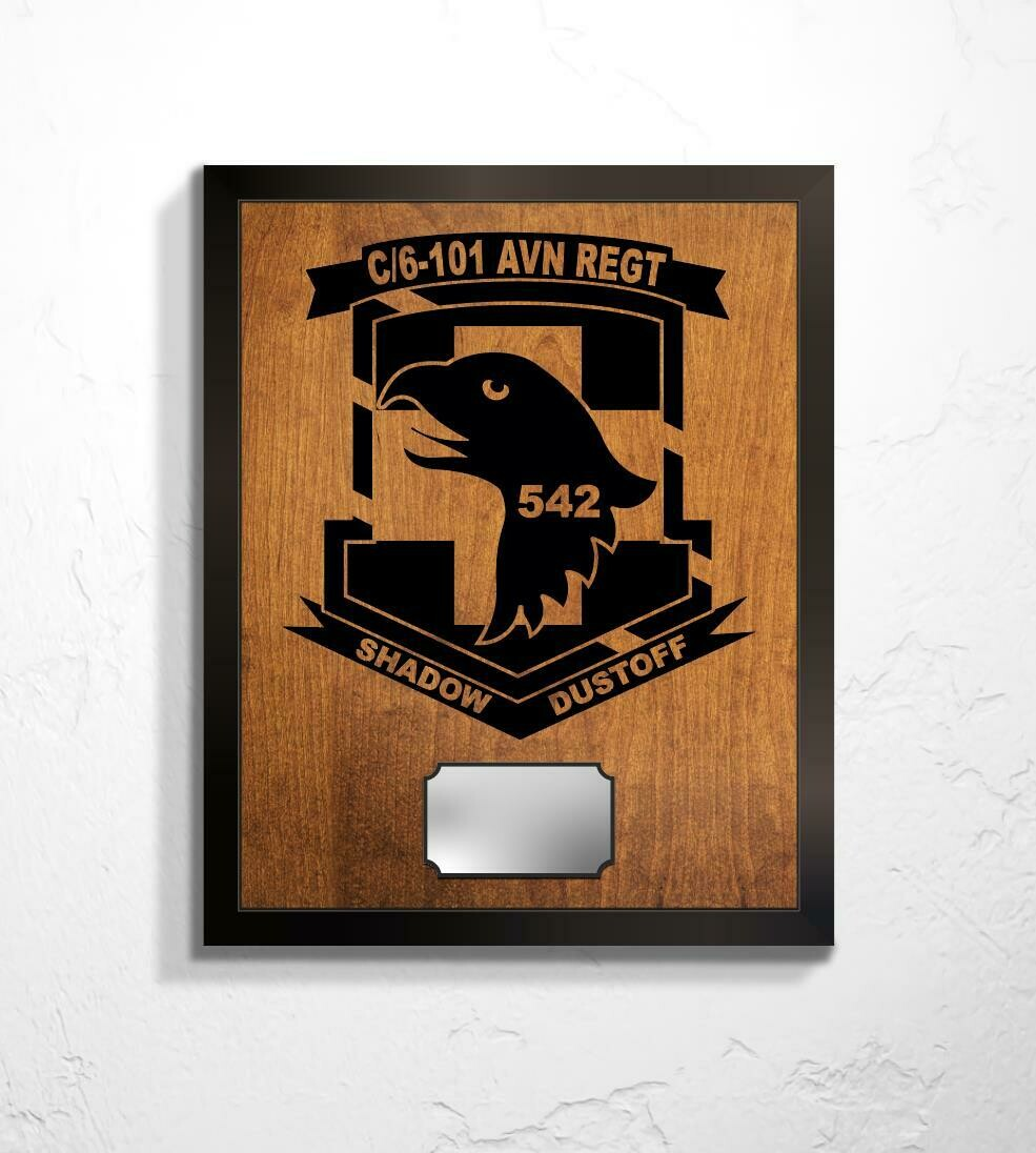 "C Co. 6-101 AVN REGT - Shadow Dustoff Plaque 20.5""x16.5"""