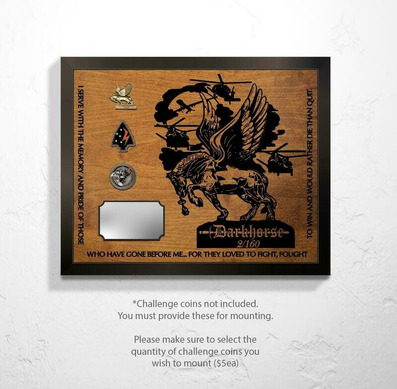 2-160th - Darkhorse Plaque 20.5