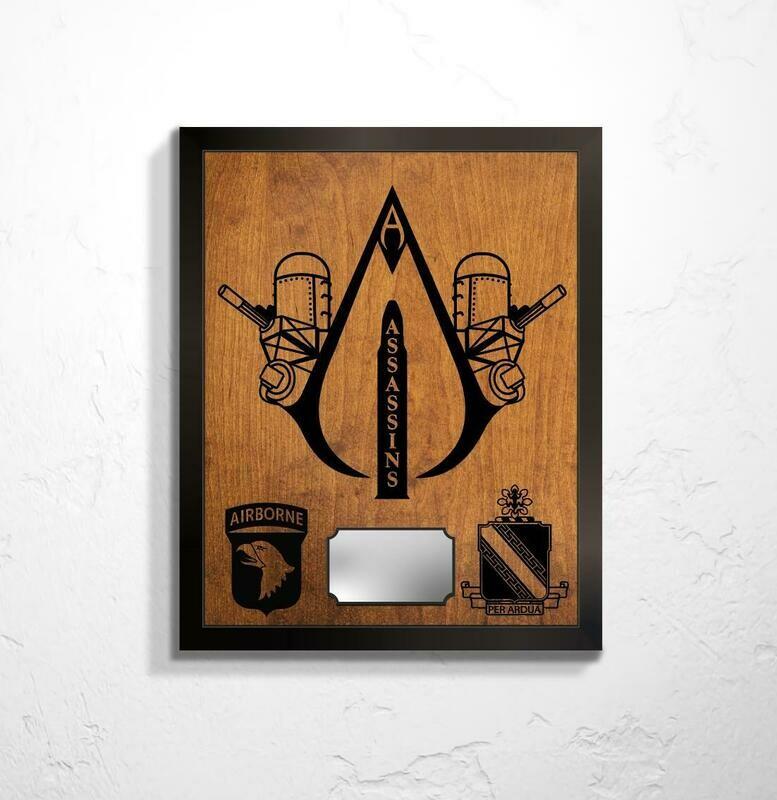 A Btry 2-44 ADA - Assassins Plaque 20.5