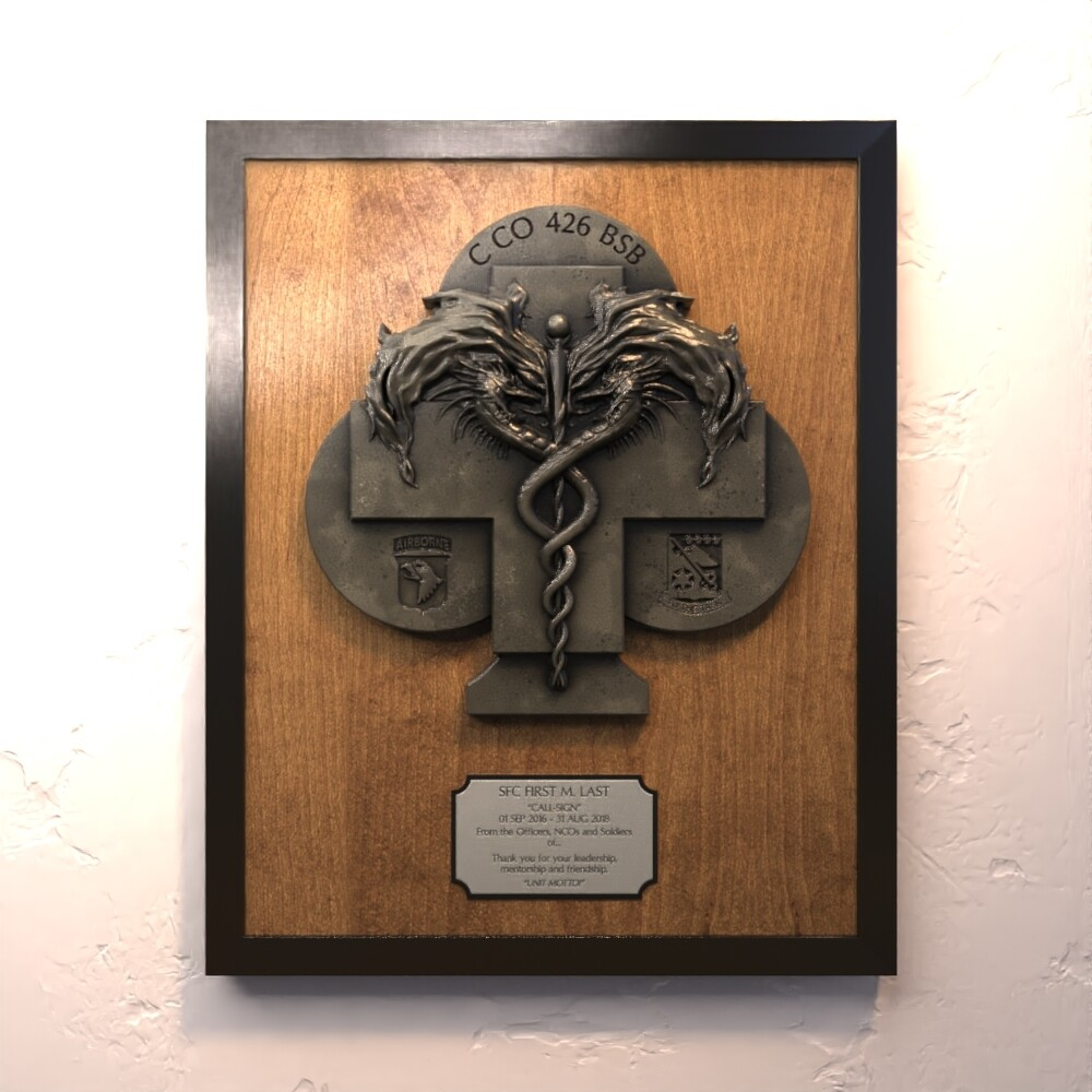 "C Co 426 ""Coldblooded"" Plaque"
