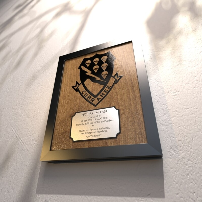 506th PIR Currahee Plaque - 13.5