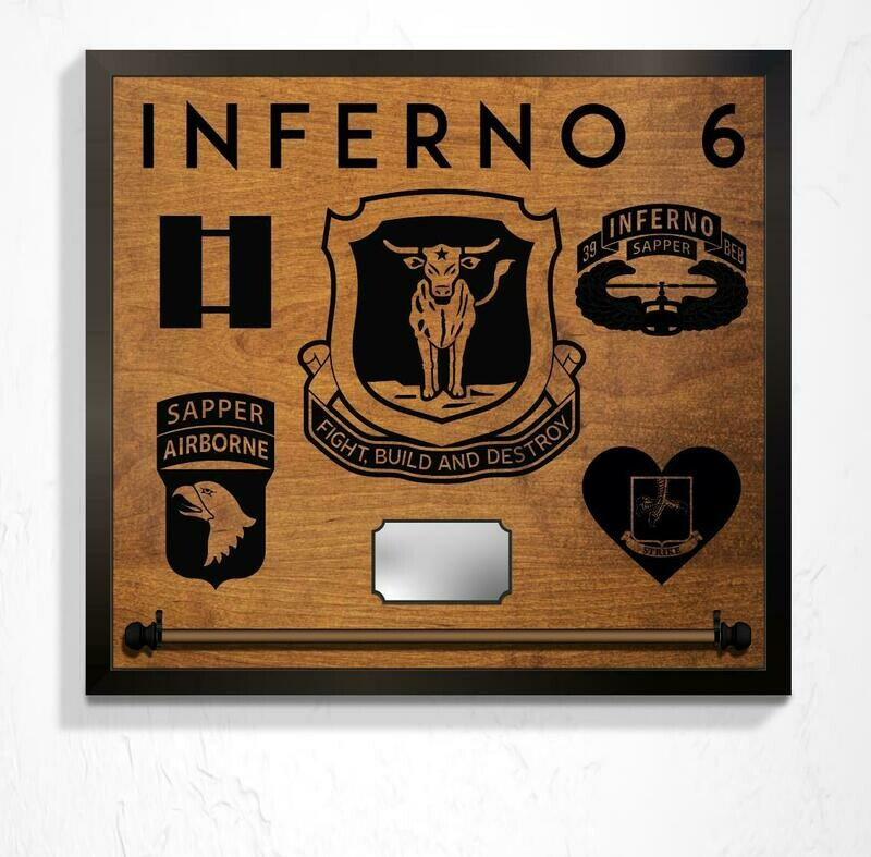 B CO 39 BEB, Guidon Mount and Custom Callsign - Plaque 25