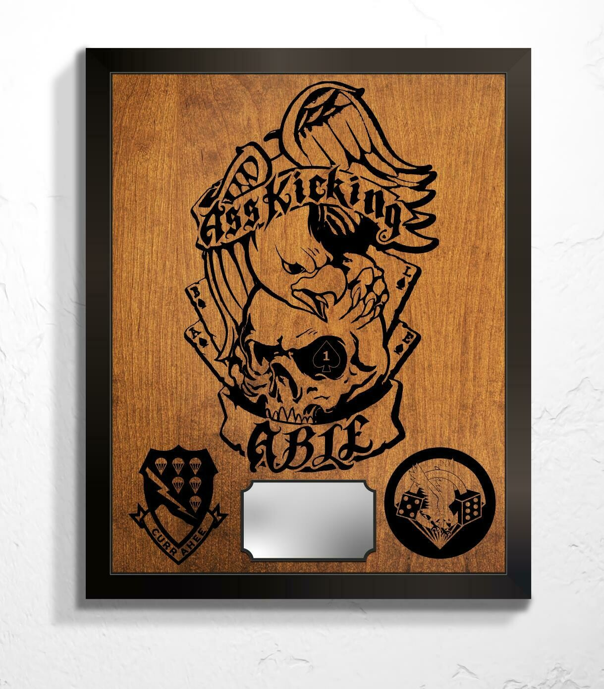"""Ass Kicking Able 1-506th Plaque 20.5""""x16.5"""""""