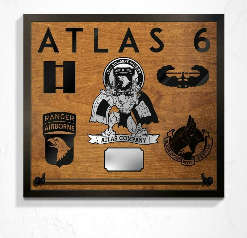 Atlas Company, HHBn, Guidon Mount and Custom Callsign - Plaque 25
