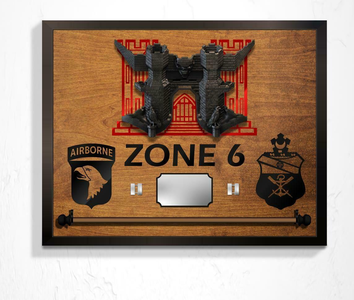 """Zone"" 21 BEB Guidon Hanging Plaque - 26"" x 20"""