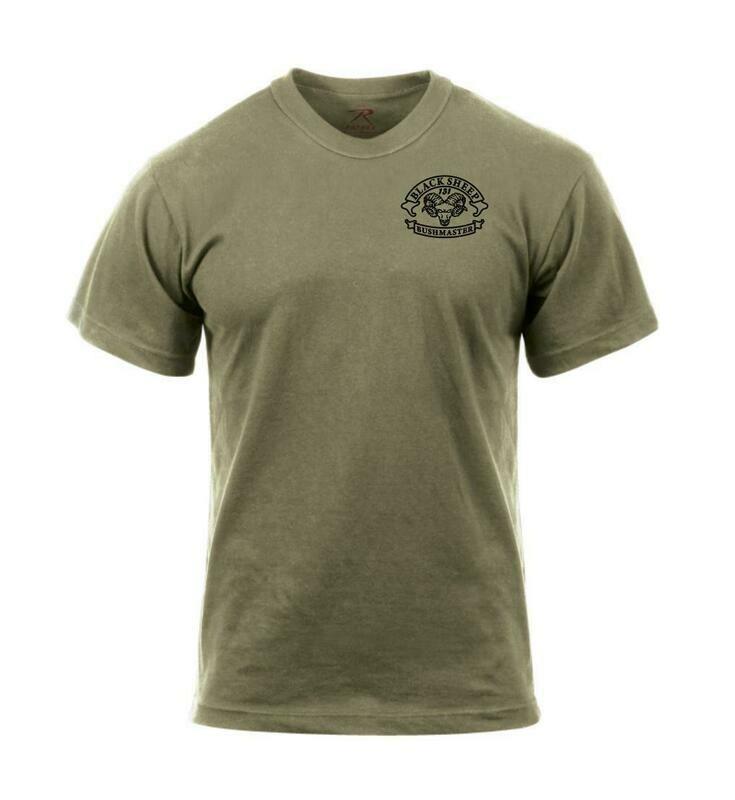 Black Sheep, B/1-327 Coyote Shirt