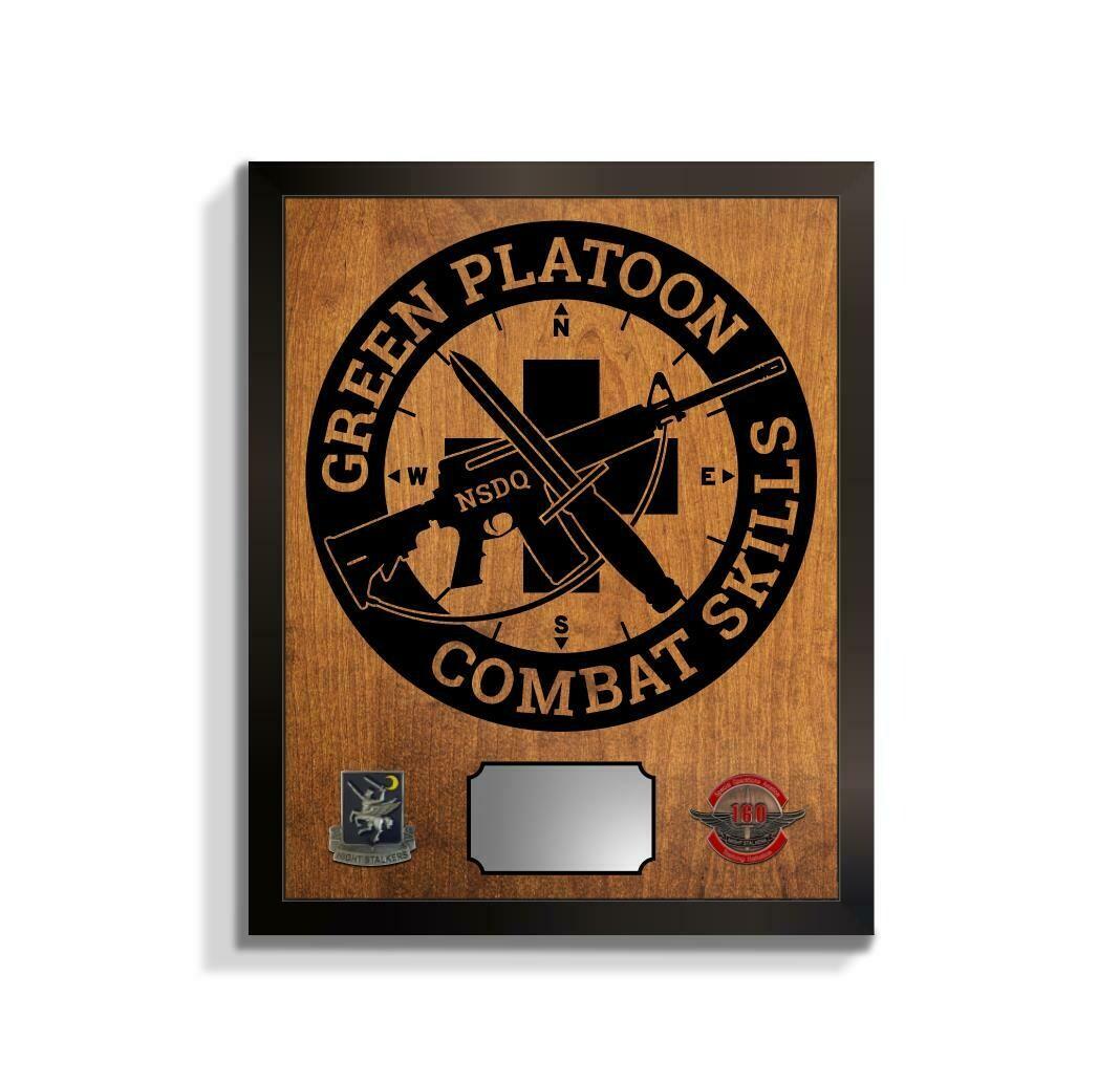 "Green Platoon 160th Plaque 20.5""x16.5"""