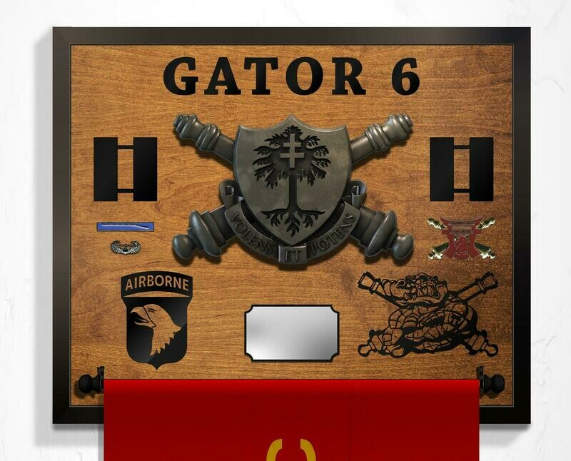 Gator 3-320th FA Guidon Hanging Plaque - 25.5