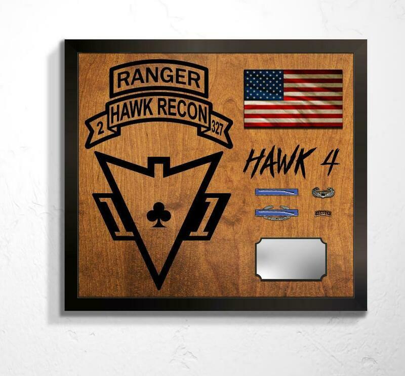 Hawk Recon, 2-327 INF Plaque