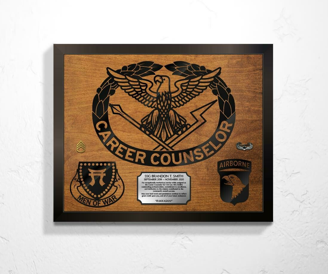 "Career Counselor Plaque 20.5""x16.5"""