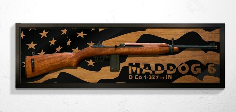 Rifle Mount Flag Plaque with Callsign - 39