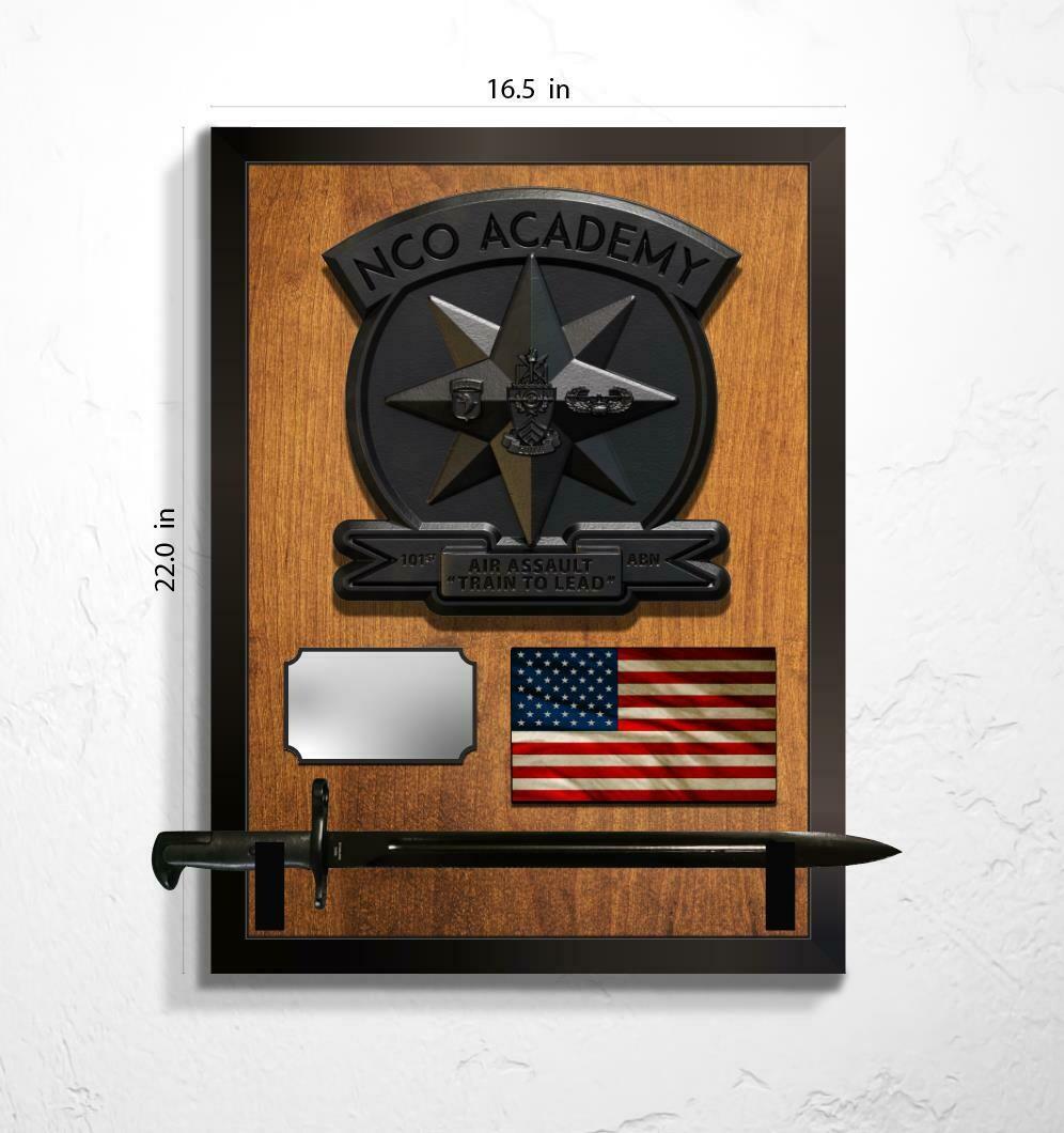 """NCO Academy Plaque -  20"""" x 16"""""""