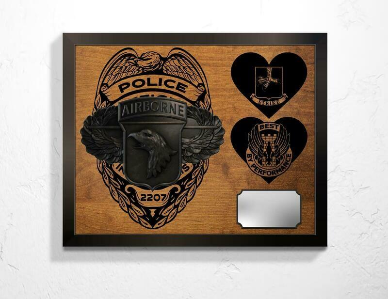 Police/101st Airborne Retirement Plaque -  20.5