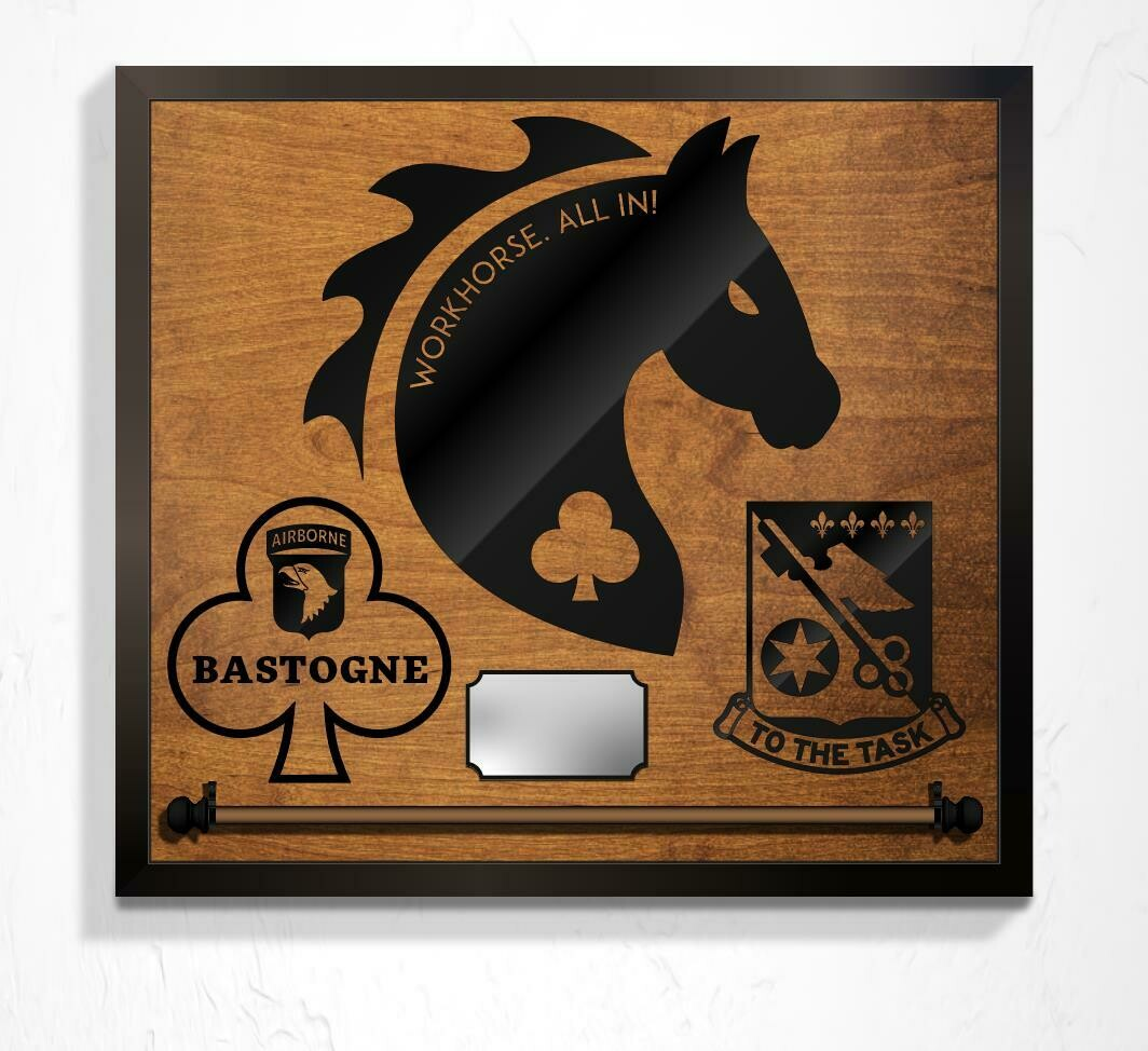 "Workhorse A Co 426 BSB, Guidon Mount Plaque - 25"" x 23"""