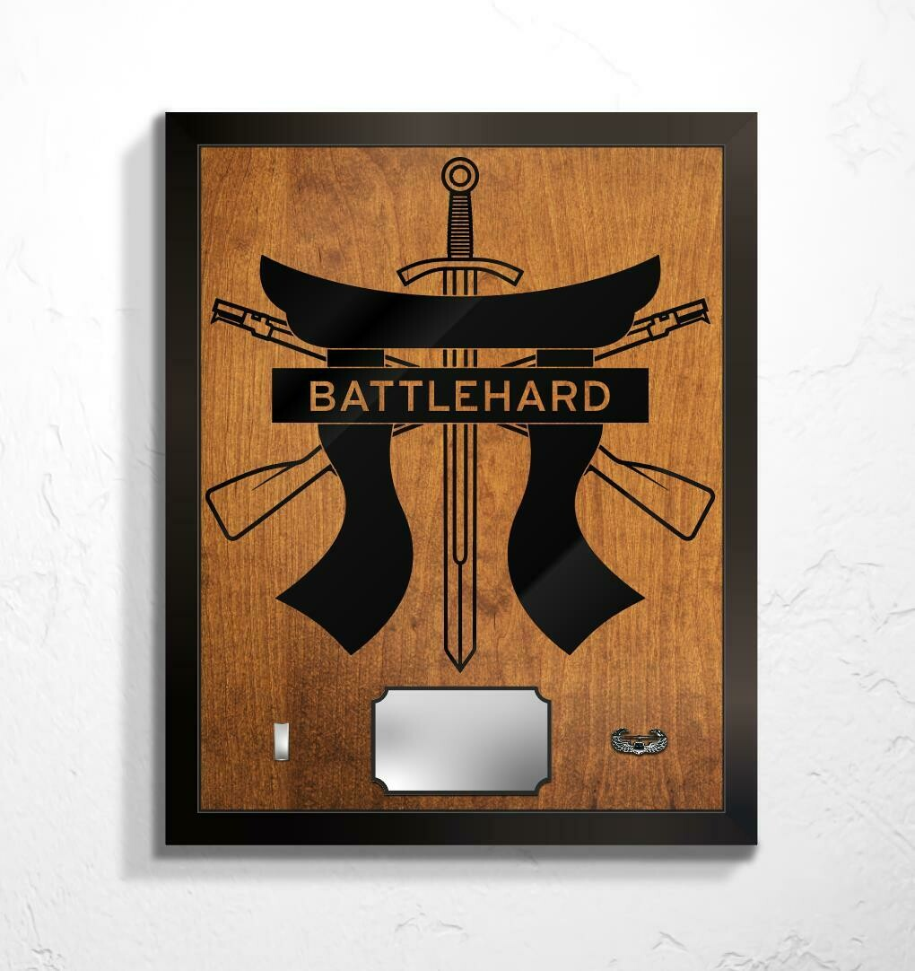 "Battlehard Plaque 20.5""x16.5"""