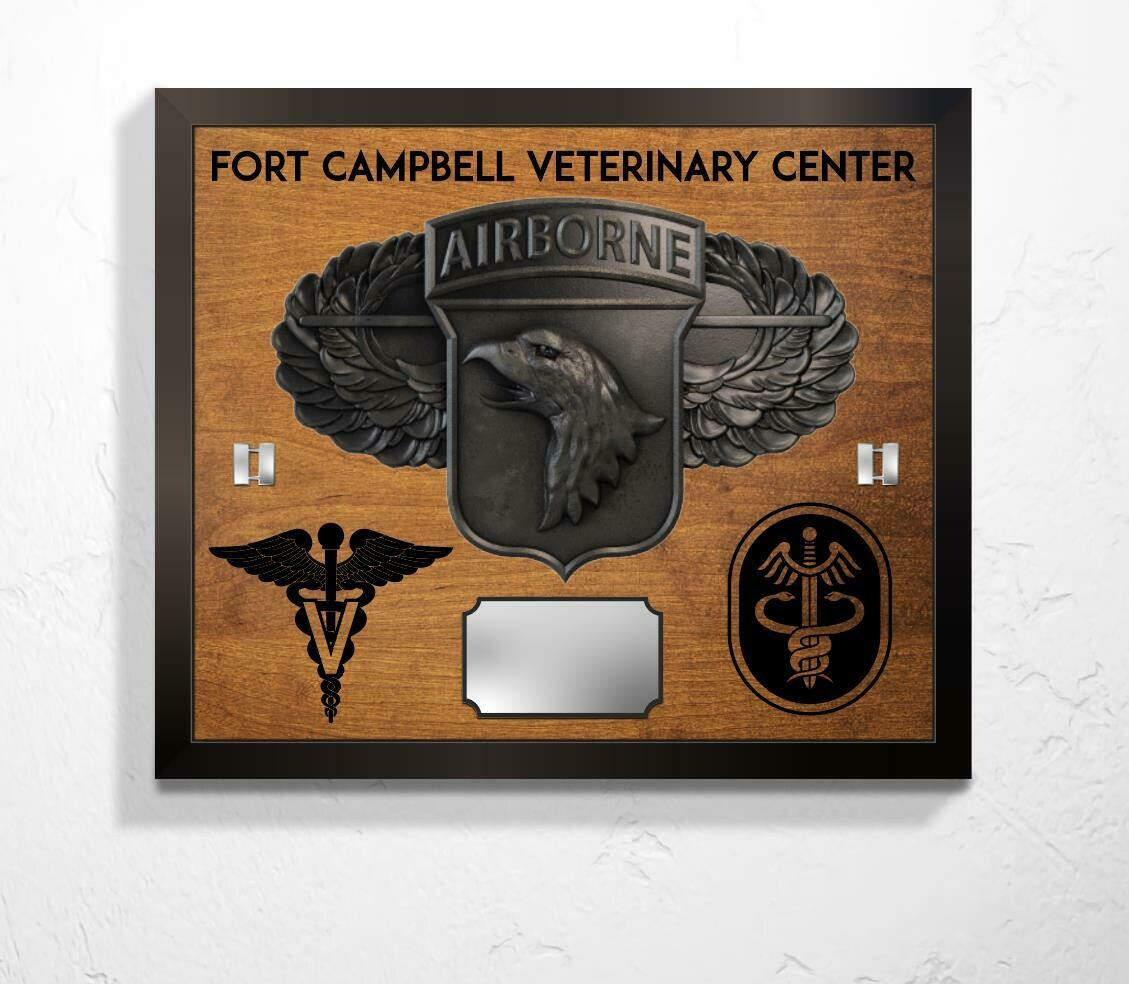 "Fort Campbell Veterinary Center Plaque - 20.5""x17.25"""