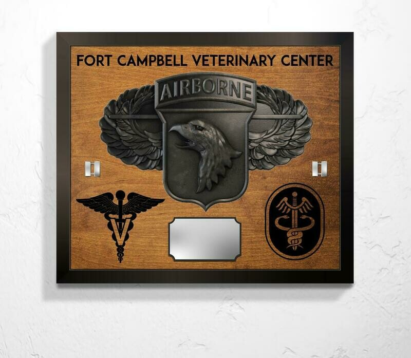 Fort Campbell Veterinary Center Plaque - 20.5