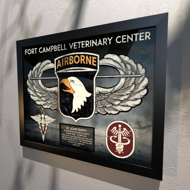 Fort Campbell Veterinary Center Plaque 20.5