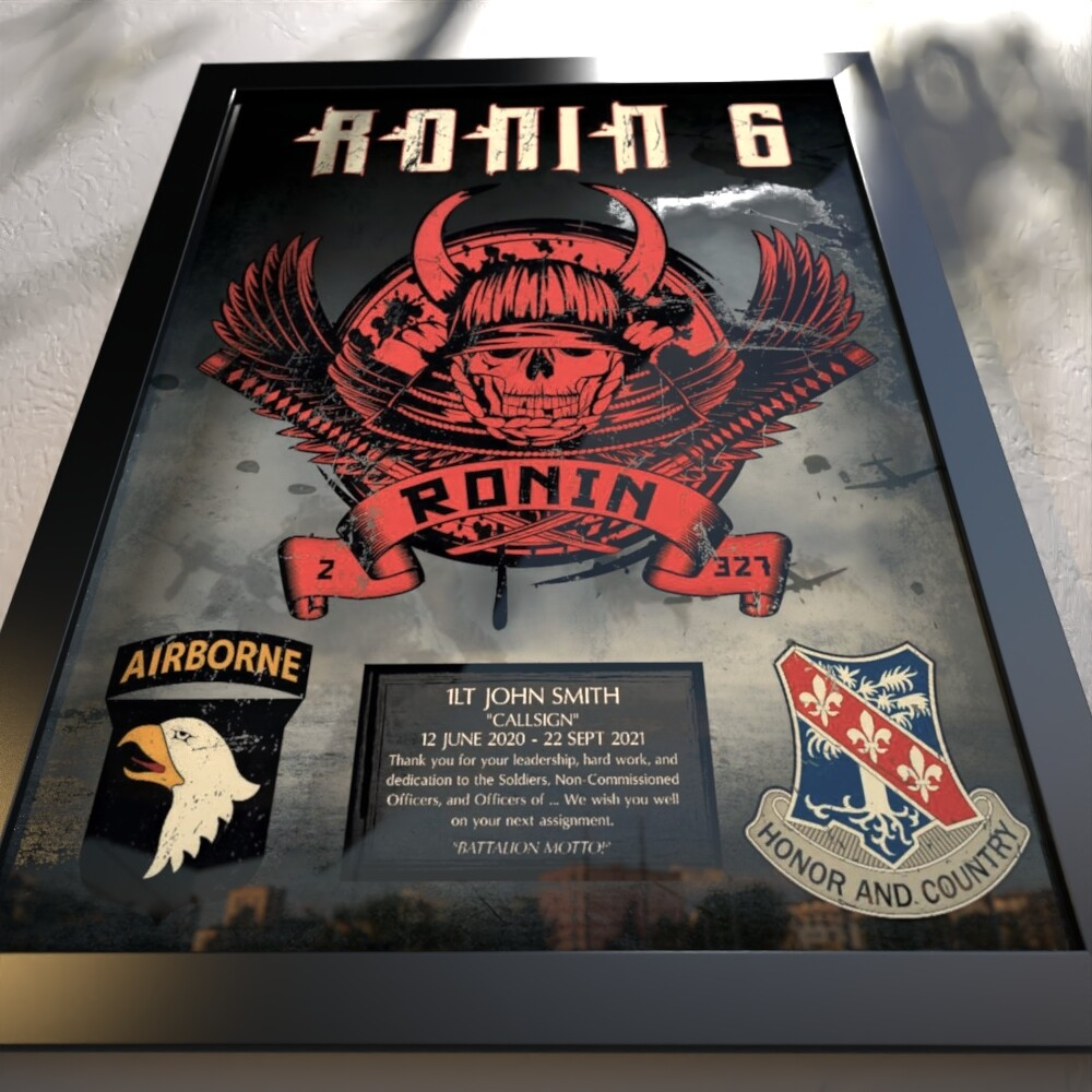 "Ronin 2-327th Plaque - 20.5""x16.5"""