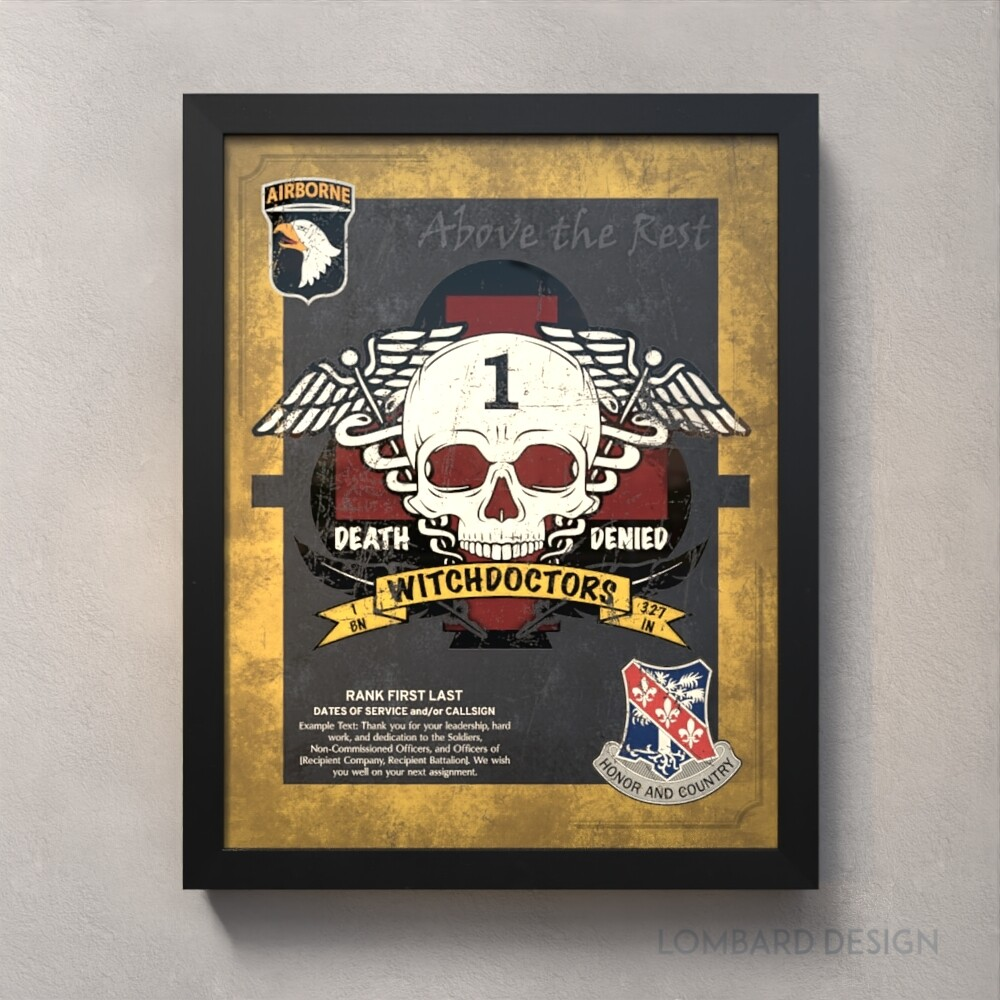 "Witchdoctors 1-327th Plaque (Flash) - 20.5""x16.5"""