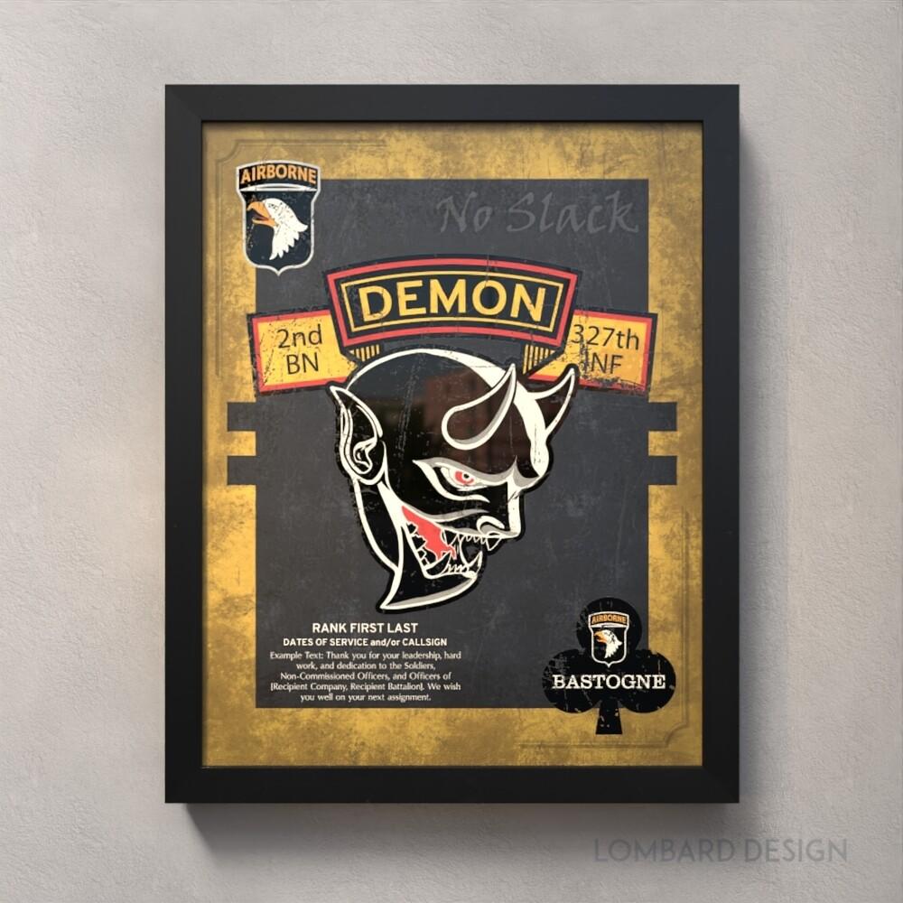 "Demon 2-327th Plaque (Flash) - 20.5""x16.5"""