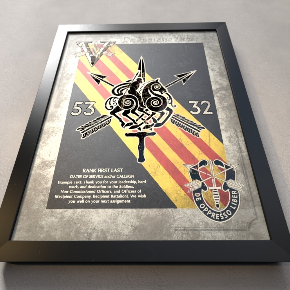 "5th Group Team Plaque - SFOD-A 5332 - 20.5""x16.5"""
