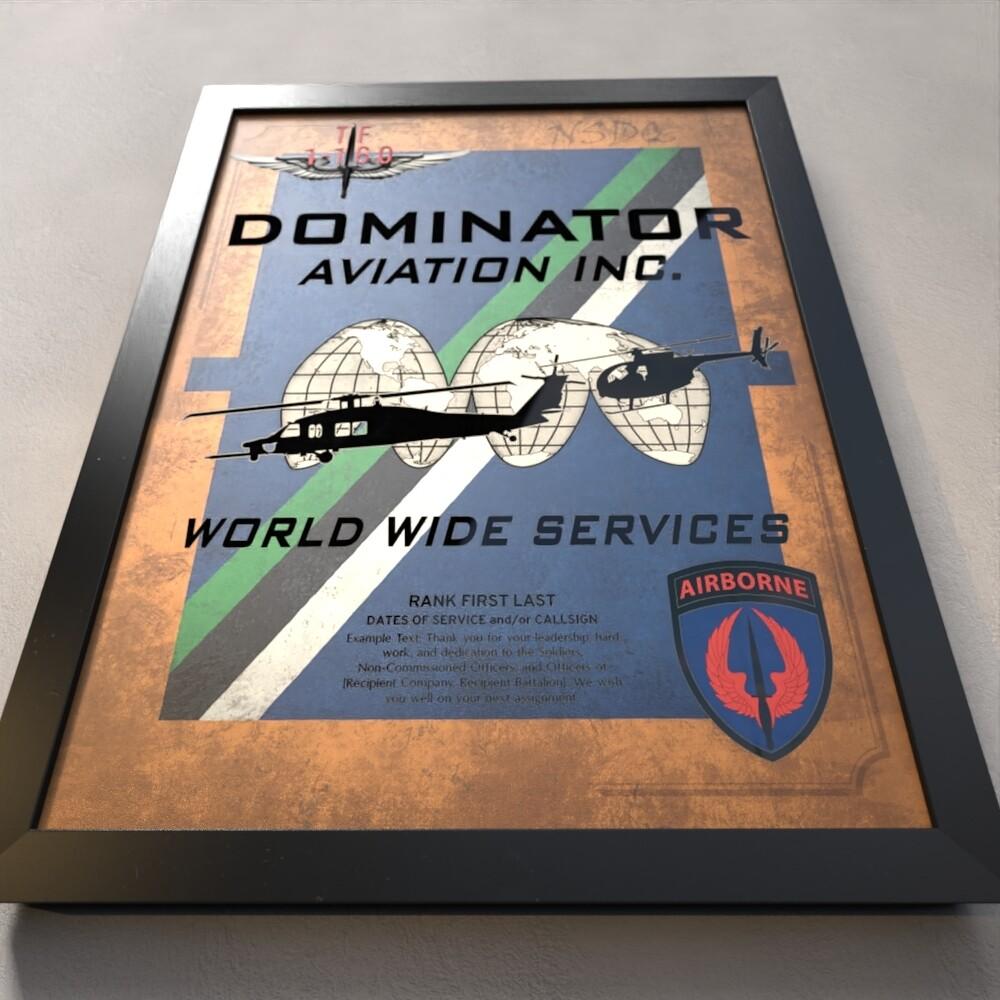 "Dominator 1-160th SOAR(Abn) Plaque - 20.5""x16.5"""