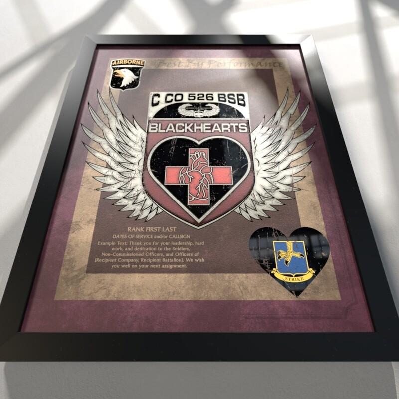 """Blackhearts C Co 526 BSB Plaque - 20.5""""x16.5"""""""