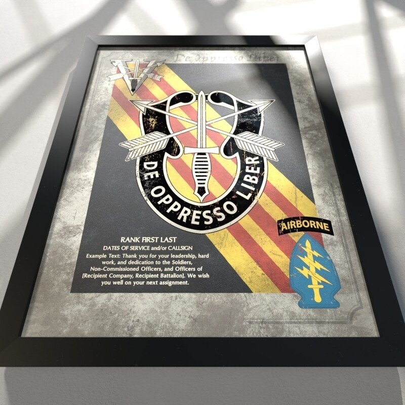 """5th Group Plaque (Flash) - 20.5""""x16.5"""""""