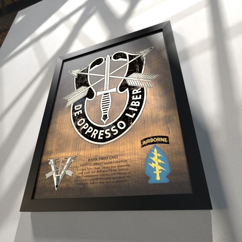 """5th Group Stained Wood Plaque - 20.5""""x16.5"""""""