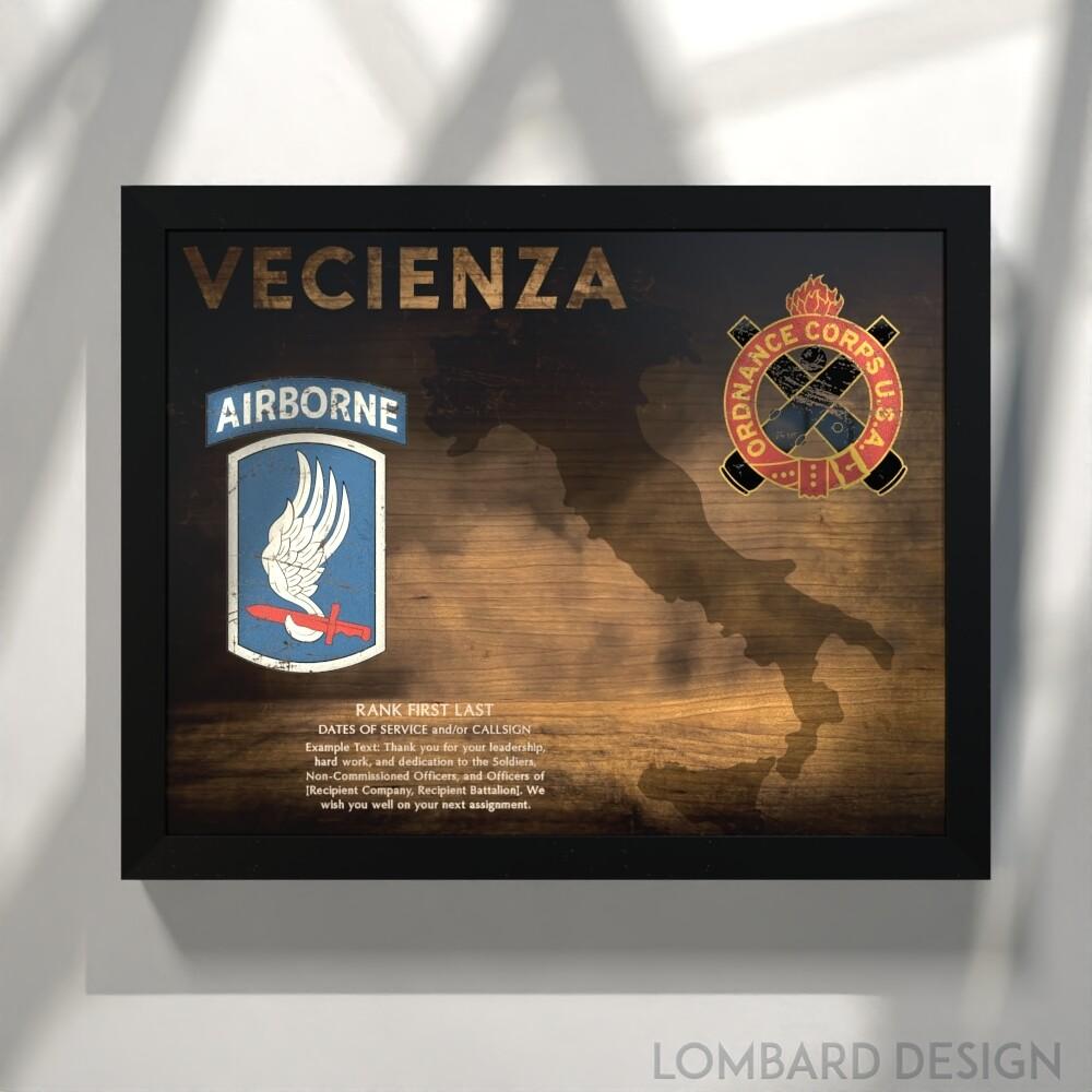 "173rd Airborne - Ordnance Corps Plaque - 20.5""x16.5"""